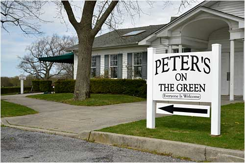 Peters on the green